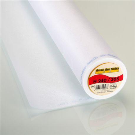 Entoilage thermocollant H250 Vlieseline blanc x 10cm