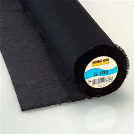 G700 Vlieseline polyvalent woven hot-melt canvas covering ? Black x10cm