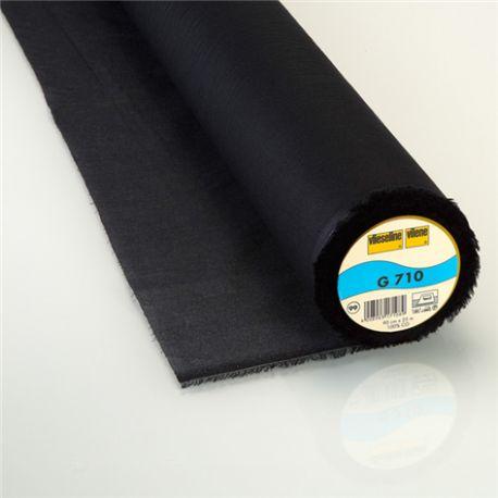 Entoilage thermocollant tissé léger G710 Vlieseline noir x 10cm