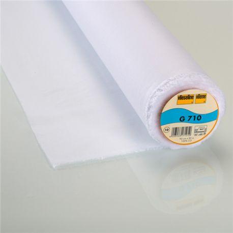 Entoilage thermocollant tissé léger G710 Vlieseline blanc x 10cm