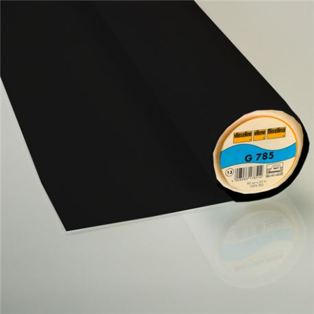 G785 Vieseline bi-stretch hot-melt canvas covering ? Black x 10cm