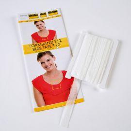 Stabilmanche - bande en biais thermocollante Vlieseline blanc x 5 m