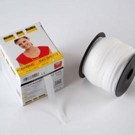 Stabilmanche - bande en biais thermocollante Vlieseline blanc x1m
