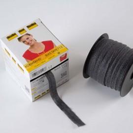 Stabilmanche - bande en biais thermocollante Vlieseline graphite x1m
