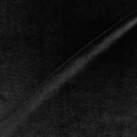 Tissu maille velours - noir x 10cm