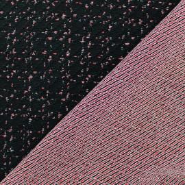 ♥ Coupon tissu 120 cm X 148 cm ♥ jersey gaufré réversible - Lucy