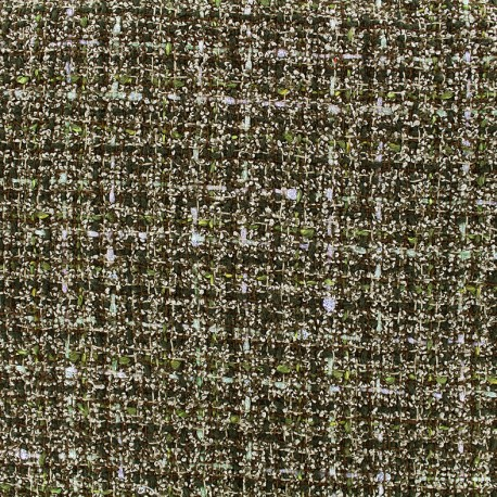 tissu tweed laine lurex vert x 10cm ma petite mercerie. Black Bedroom Furniture Sets. Home Design Ideas