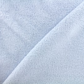 Plain Piloudou fabric - sky blue x 10cm