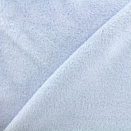 Tissu Piloudou uni - bleu ciel x 10cm
