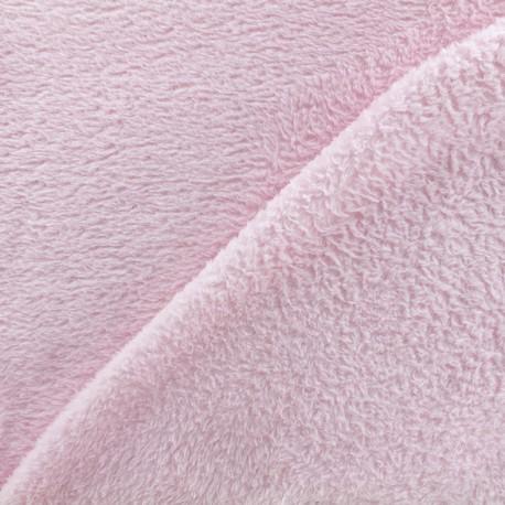 Tissu Piloudou uni - rose clair x 10cm