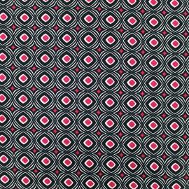Tissu satin Pearl Peach Retro by Penelope® - fuchsia x 10cm