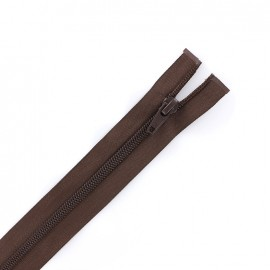 Thin Separating nylon zipper 5 mm - chocolate