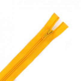 Thin Separating nylon zipper 5 mm - yellow