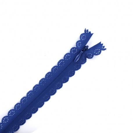Fermeture éclair® dentelle non séparable invisible - bleu bugatti
