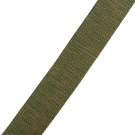 Lurex strap copper - khaki x 1m