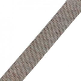 Lurex strap copper - dark grey x 1m
