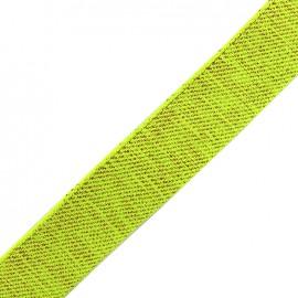 Lurex strap copper - fluo yellow x 1m