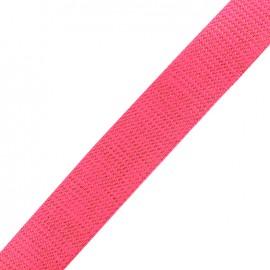Lurex strap copper - fluo pink x 1m