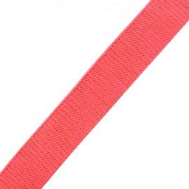 Lurex strap copper - fluo coral x 1m