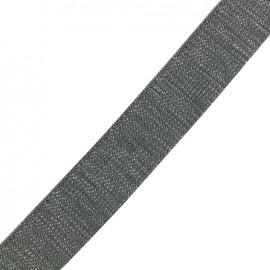 Sangle lurex argent - gris foncé x 1m