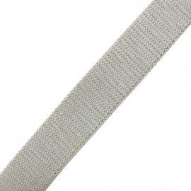 Lurex strap silver - light grey x 1m
