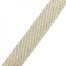 Lurex strap gold - ecru x 1m