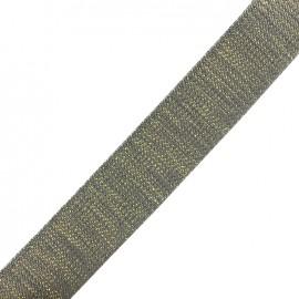Lurex strap gold - dark grey x 1m