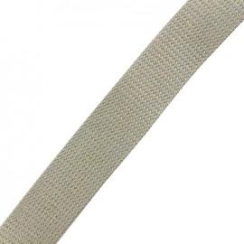 Lurex strap gold - light grey x 1m