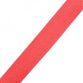 Lurex strap gold - fluo coral x 1m