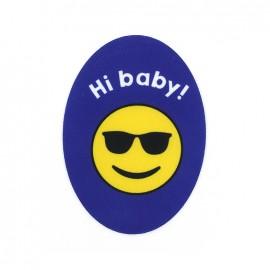 Thermocollant Symbole toile ovale - Hi baby