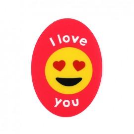Iron on canvas patch ovale Symbole -  I love you