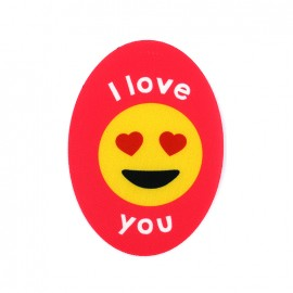 Thermocollant Symbole toile ovale - I love you