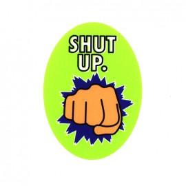 Thermocollant Symbole toile ovale - Shut up