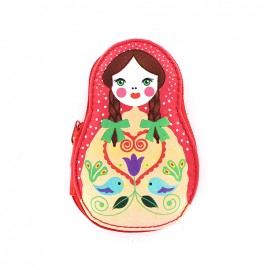 Sewing kit Poupée russe - red