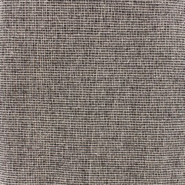 Cotton Canvas Fabric Linum caviar - ficelle black x 10cm