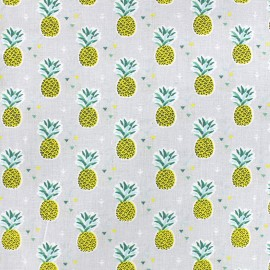 Tissu coton Miami - perle x 10cm