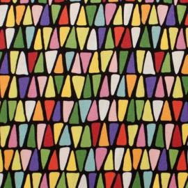 Tissu coton Triangulo - black x 10cm