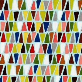 Tissu coton Triangulo - sky x 10cm