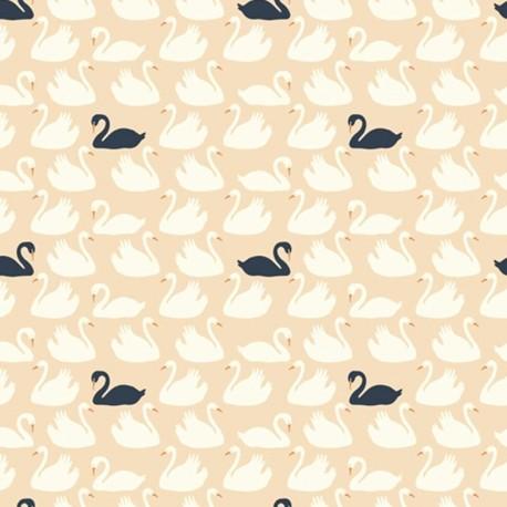 tissus pas cher 100 coton tissu coton bio bevy shell dusk x 20cm. Black Bedroom Furniture Sets. Home Design Ideas