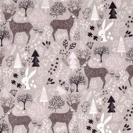 Tissu Camelot Fabrics Hello my deer - zinc x 20cm