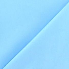 Tissu Popeline bleu ciel x10cm