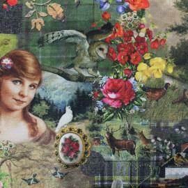 ♥ Coupon 300 cm X 160 cm ♥ Digital printing velvet fabric - Bavière