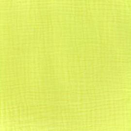 Tissu double gaze de coton - lemon Camillette création x 10cm