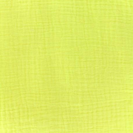 tissu double gaze de coton lemon camillette cr ation x 10cm ma petite mercerie. Black Bedroom Furniture Sets. Home Design Ideas