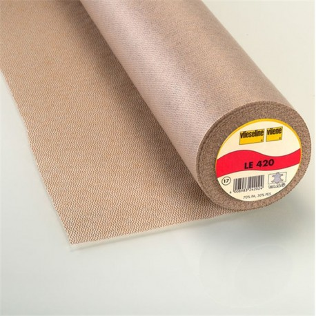 Entoilage thermocollant cuir LE 420 vieseline mérino x 10cm