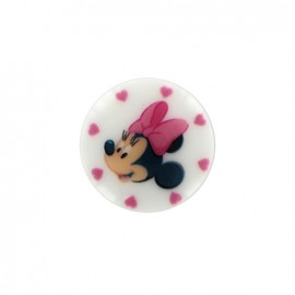 Bouton Disney Minnie - blanc