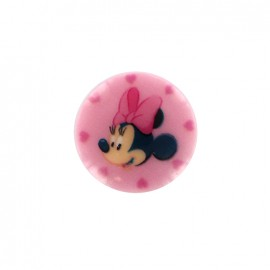 Minnie mouse Disney Button  - pink