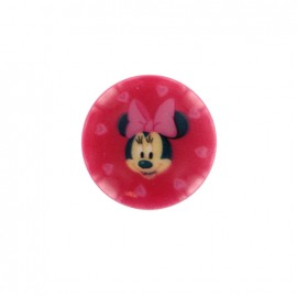 Minnie mouse Disney Button  - fuchsia