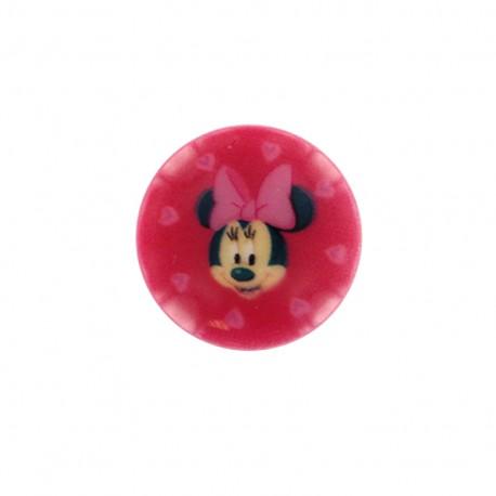 Minnie mouse Disney Button  - fuchsia