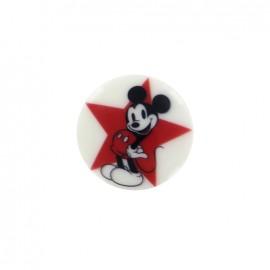 Bouton Disney Mickey - Etoile rouge